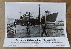orig. Presse Foto Stützpunkt der Kriegsmarine WW2 WK2 um 1940