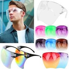 Clear Shield Face Mask Goggles Transparent Reusable Glasses Visor Anti-Fog Lot