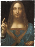 SALVATOR MUNDI LEONARDO DA VINCI REPRODUCTION LIMITED EDITION ART PRINT 18x24