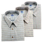 Fortress Mens Shirts Brushed Woven Fabric Country Style Mix Colours 3 Shirt Pack