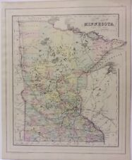 Minnesota map 1884 Hand Colored Mitchell  ************ Original ****************