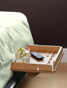 Bamboo Bedside Shelf Bunk Bed Clip-on Nightstand Tray Organizer Storage Holder