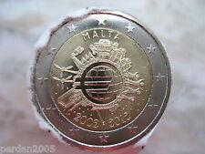 MALTA 2012 2 EURO FDC UNC 10° anniv. EURO - TYE MALTE