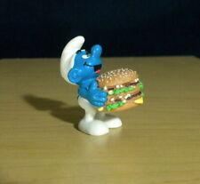 Smurfs Big Mac Smurf McDonalds Hamburger Vintage Figure Happy Meal Toy Figurine