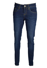 LADIES WOMENS SKINNY FADED STRETCHY JEANS LIGHT BLUE INDIGO DENIM BLUE SIZE 8-18