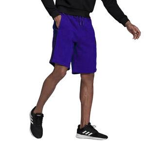 Adidas Men's Essentials 3-Stripes Fleece Shorts, Collegiate Purple/Black