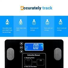 Leadzm Digital Body Fat Scale BMI Water Muscle Calorie Bone Weight 400lb 12 User