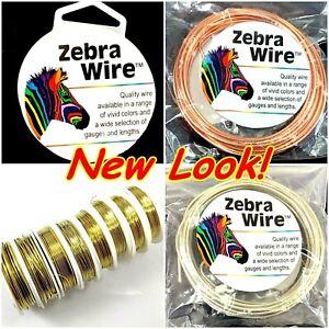 Zebra Wire Brass Wire Gold Silver Round Spool 12,14,16,18,20,22ga,24,26 28Gauge