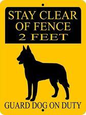 1739 German Shepherd Dog Sign,9 X 12 Aluminum Sign,Security,Warning,