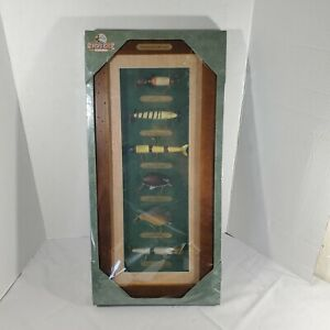 """Fishing Lures of The 20th Century. Rivers Edge Display. 9.5"""" x 21"""". New Factory"""