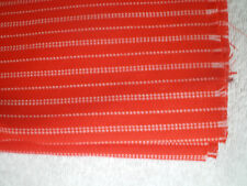 Fabric Remnant / Skirt Length or Craft Red White Stripe 80cm long  x 56cm  wide