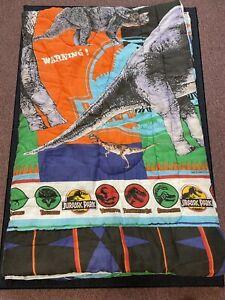 Vintage Jurassic Park 1992 Twin Size Comforter Blanket Bibb Co USA