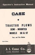CASE SR ST 4 and 5 Plow Semi Mounted Operators Manual