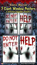 Bloody Help Window Cling Poster Posters Shade Halloween Prop Decoration Decor