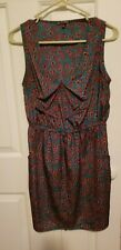 Be Bop-Sleeveless Drawstring -shirtdress Side Pockets Medium multicolors Dress