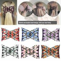 Fashion Double Hair Comb Magic Beads Elasticity Clip Stretchy Hair Combs Clips