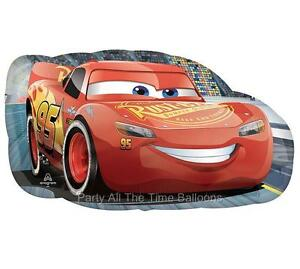 """NEW Disney Cars 30"""" Lightning MCQUEEN Shaped Birthday Party Free Shipping"""
