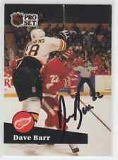 Autographed 91/92 Pro Set Dave Barr - Red Wings