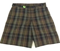 PATAGONIA Men's Size 39 Shorts Gray Plaid Seersucker Polyester Organic Cotton