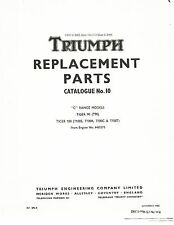 Triumph Parts Manual Book 1969 Tiger 100 T100C & Tiger 100 T100T
