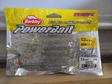 """Berkley Powerbait 3.5"""" Bearded Singletail Grub oystershell 6 count package NIP"""