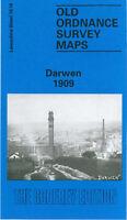 OLD ORDNANCE SURVEY MAP DARWEN 1909 ROBERT STREET SPRING VALE STATION SOUGH