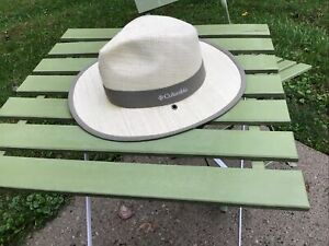 Columbia Mens Size Small Straw Outback Hat