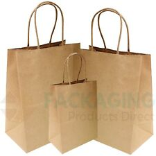 More details for brown twist handle paper party and gift carrier bag / bags with twisted handles