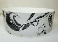 "Fringe Studio  Marble Artwork Ceramic Medium Food  Water Dog Bowl  ""Best Dog """