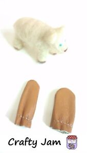 Leather Finger Guard Protectors (Pair) Hand Crafts Needle Felting