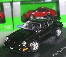 WELLY NEX MODELS PORSCHE 911 TURBO DIECAST METAL PC BOX ECHELLE 1:87 HO NEW OVP