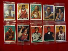 1993 KELLOGG'S COLLEGE GREATS POSTER CARDS 10 CARD SET SEALED - PIPPEN, JABBAR +