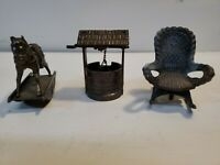 A Lot Of 3 Vintage 1960's Pencil Sharpeners, rocking horse, rocking chair, well