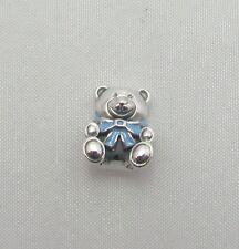 New Authentic Pandora 925 Sterling Silver Charm Son Blue Teddy Bear 791124EN41