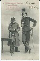 CPA - Bergeret - Cavalerie contre infanterie - La Douloureuse