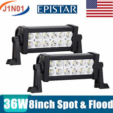 Pair of  8Inch 36W EPISTAR LED COMBO Light Bar for a 4x4 SUV ATV Truck Driving