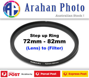 Step Up Ring 72-82mm Filter Lens Adapter 82mm Filter to 72mm Lens