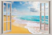 Wall Beach Decal Decor Art Vinyl Window Removable Home Stickers View Sticker 3d
