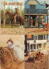 Lot 4 cartes postales anciennes AVENIR-LAND parc de loisirs