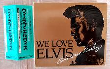 ELVIS PRESLEY WE LOVE ELVIS VOL 1 3CD'S BOXSET JAPAN WITH OBI