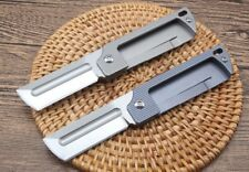 New CNC D2 Blade Full TC4 titanium Handle Folding Pocket EDC Tools  Knife DF124