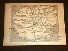 Carta o Cartina di Cuneo Mondovì Alba Saluzzo Piemonte