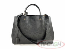 BIDSALEONLY!AUTHENTIC $3500 LV Montaigne GM Black Monogram Empreinte Leather Bag