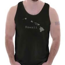 Hawaii State Vacation Souvenir HI Pride Gift Adult Tank Top Sleeveless T-Shirt
