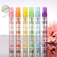 Set 6 Crystal Perfume Spray Bottle Atomiser Cut Refillable Glass Empty Gift 10ml