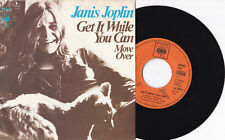 """Janis Joplin-get it while you can/Move Over - 7"""" 45 CBS Records (CBS 7451)"""
