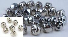 144 Bells Bulk 1/2 Inch Mini Silver Jingle Bells Christmas