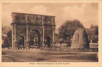 EARLY 1900's VINTAGE POSTCARD - ROME - Arco di Constantino e la Meta Sudante