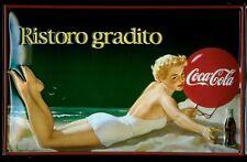 Insegna Metallo Coca Cola Ristoro Gradito (hi2030) cpm