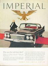 1961 Chrysler Imperial Crown Southhampton Four-door MInk Coat PRINT AD